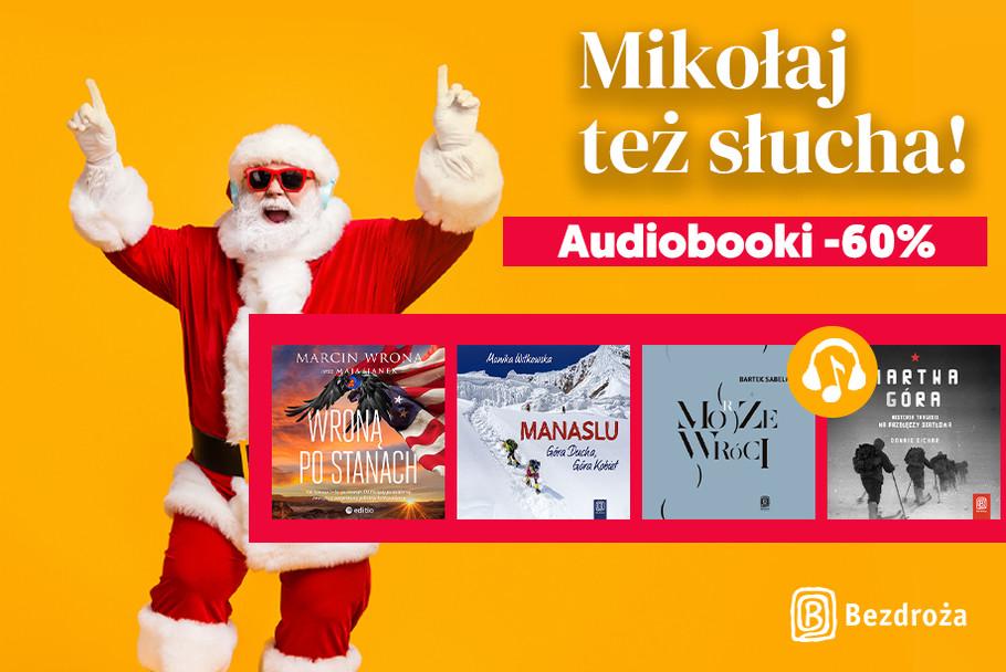 Mikołaj też słucha! 🎅➡️🎧 [Audiobooki -60%]