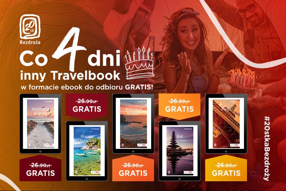 Na 20 lat Travelbook gratis!