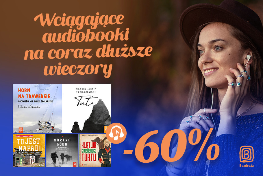 Wciągające audiobooki na coraz dłuższe wieczory [-60%]
