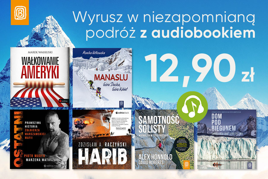 Zasłuchaj się w podróży audiobooki 12,90zł