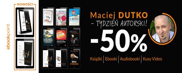 maciej dutko ebooki kursy audiobooki książki