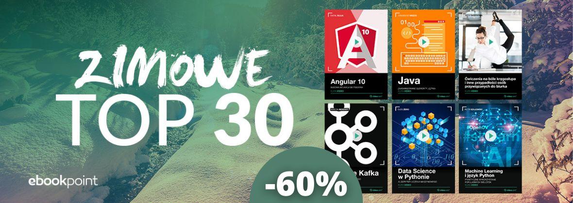 Promocja na ebooki Zimowe TOP kursów 30 za -60%