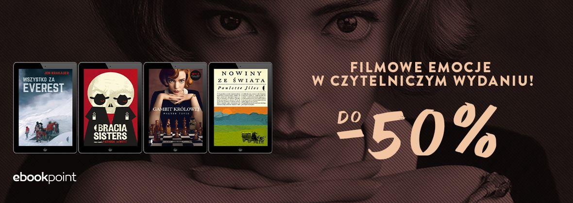 Promocja na ebooki Filmowe emocje w czytelniczym wydaniu / do -50%