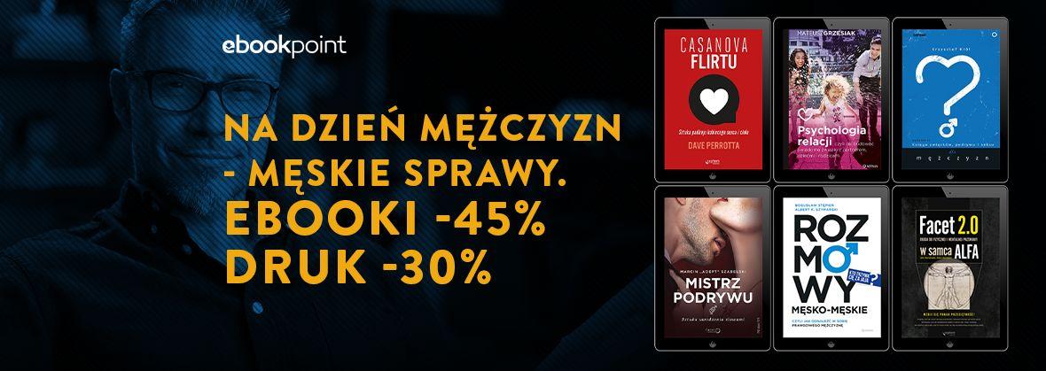 Promocja na ebooki Na Dzień Mężczyzn - męskie sprawy.