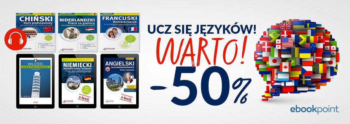 Promocja na ebooki Ucz się języków - warto! / -50%