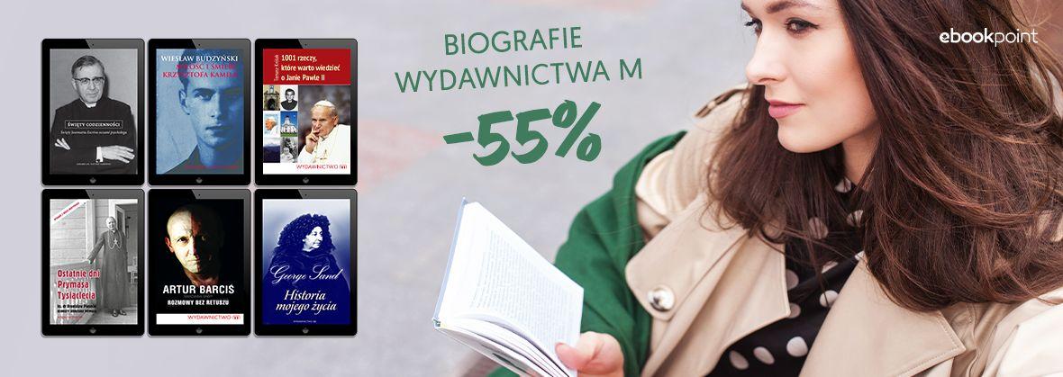 Promocja na ebooki Biografie Wydawnictwa M / -55%