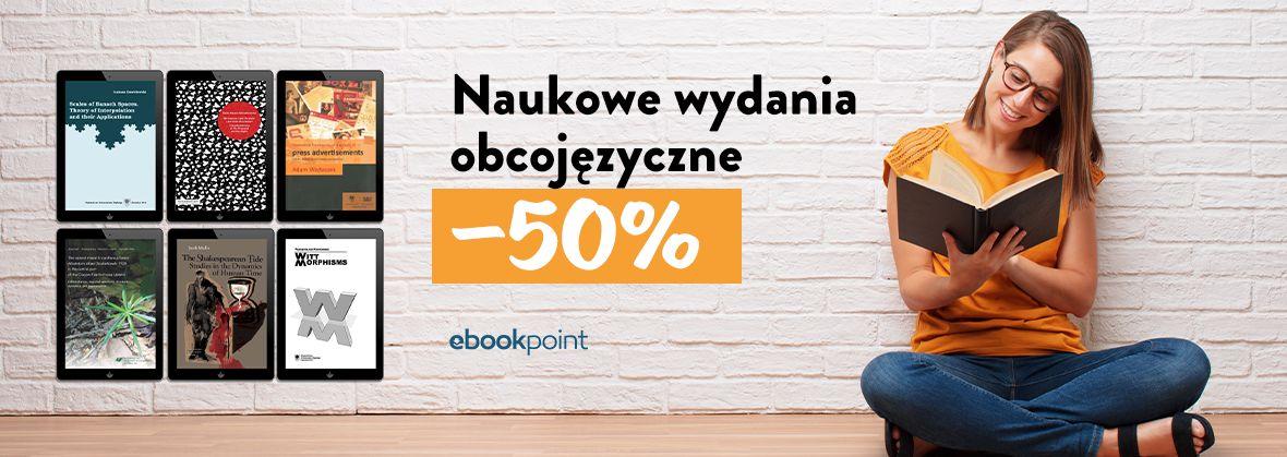 Promocja na ebooki Naukowe wydania obcojęzyczne [-50%]