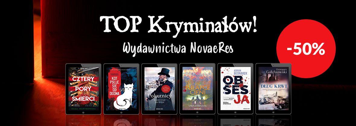 Promocja na ebooki TOP Kryminałów od Novae Res! / -50%