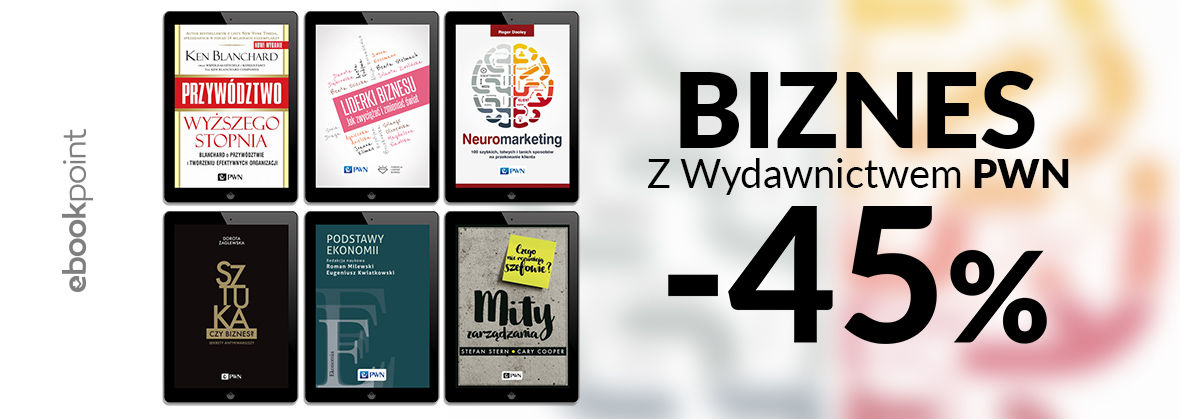 Promocja na ebooki Biznes z Wydawnictwem PWN / -45%