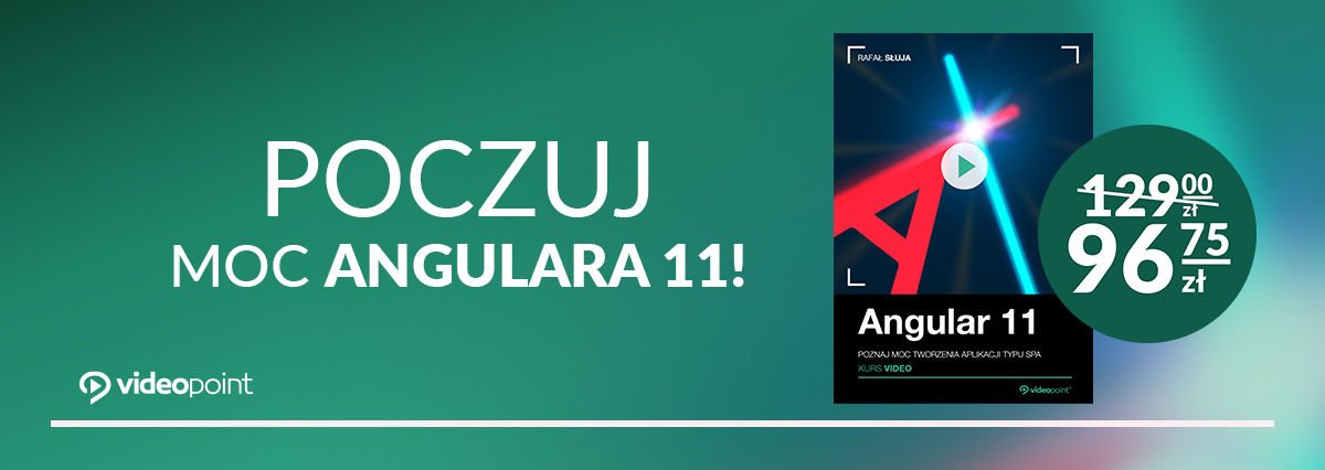 Promocja na ebooki Poczuj moc Angulara 11!
