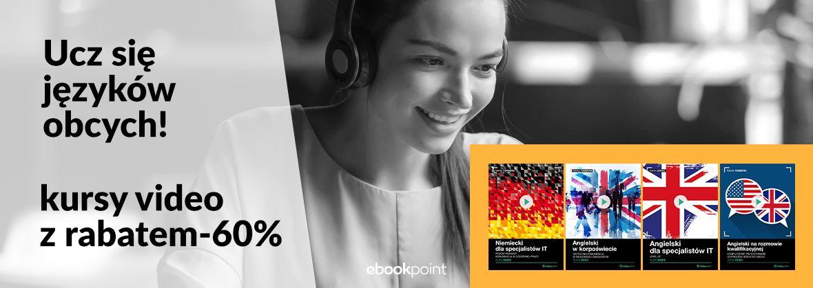 Promocja na ebooki Ucz się języków obcych! Kursy video z rabatem -60%