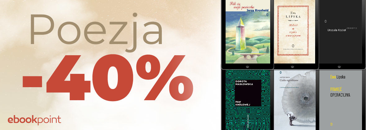 Promocja na ebooki POEZJA / -40%
