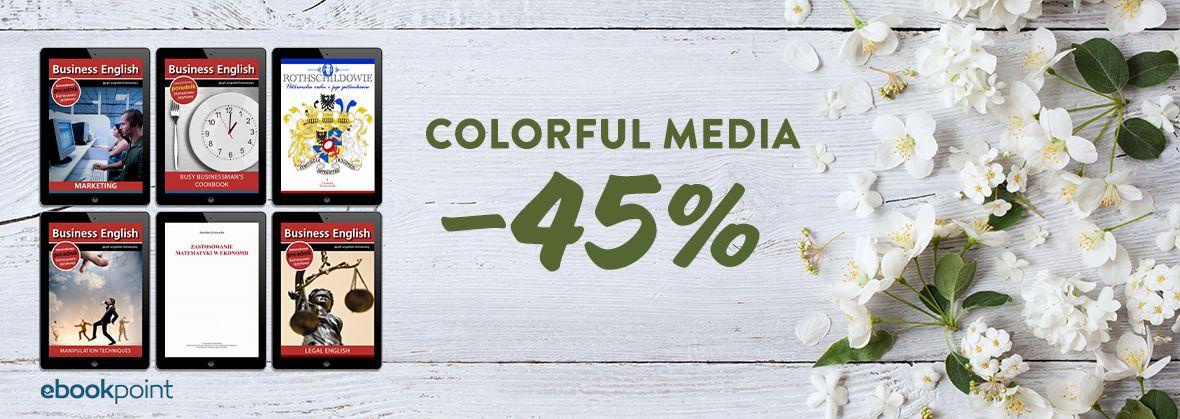 Promocja na ebooki COLORFUL MEDIA / -45%