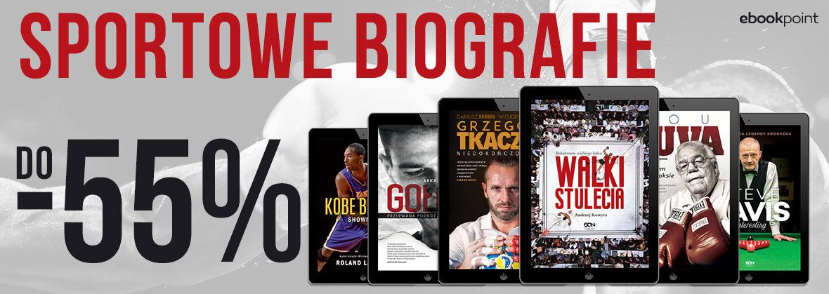 Promocja na ebooki Sportowe BIOGRAFIE / -55%