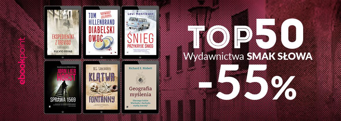 Promocja na ebooki TOP50 Wydawnictwa Smak Słowa / -55%