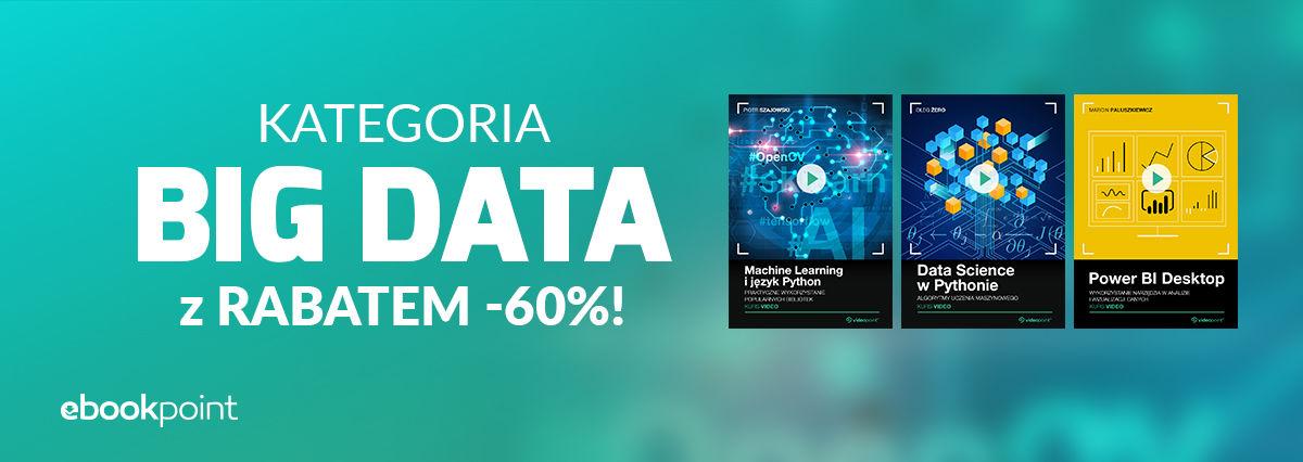 Promocja na ebooki BIG DATA (-60%)