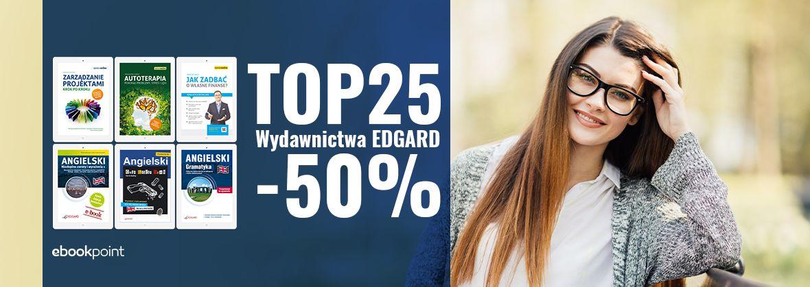 Promocja na ebooki EDGARD / TOP25 -50%