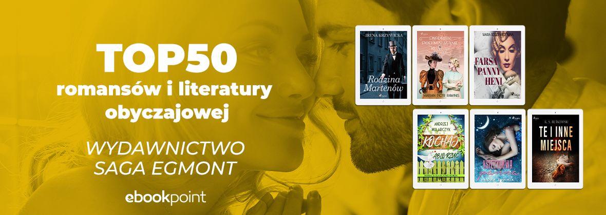 Promocja na ebooki TOP50 romansów i literatury obyczajowej / Saga Egmont