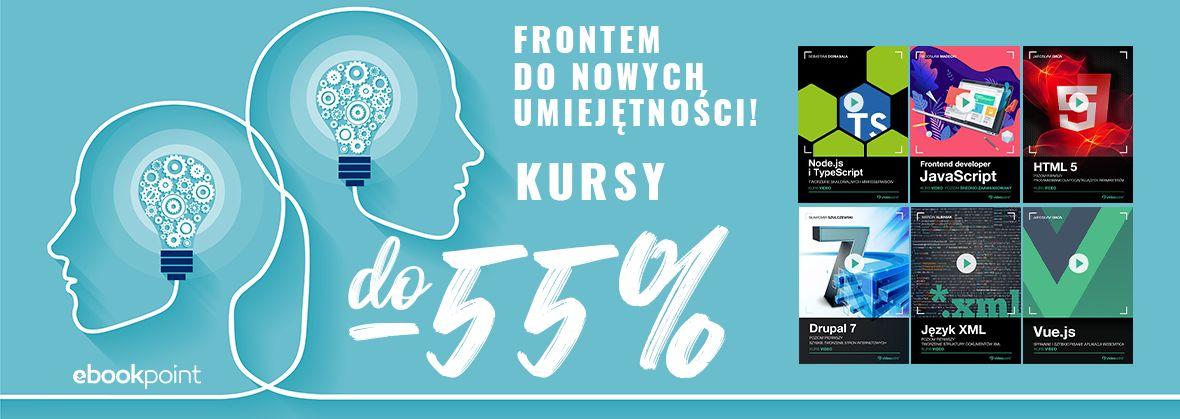 Promocja na ebooki Frontem do nowych umiejętności! Kursy frontendowe do 55% taniej.