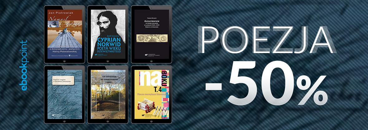Promocja na ebooki POEZJA / -50%