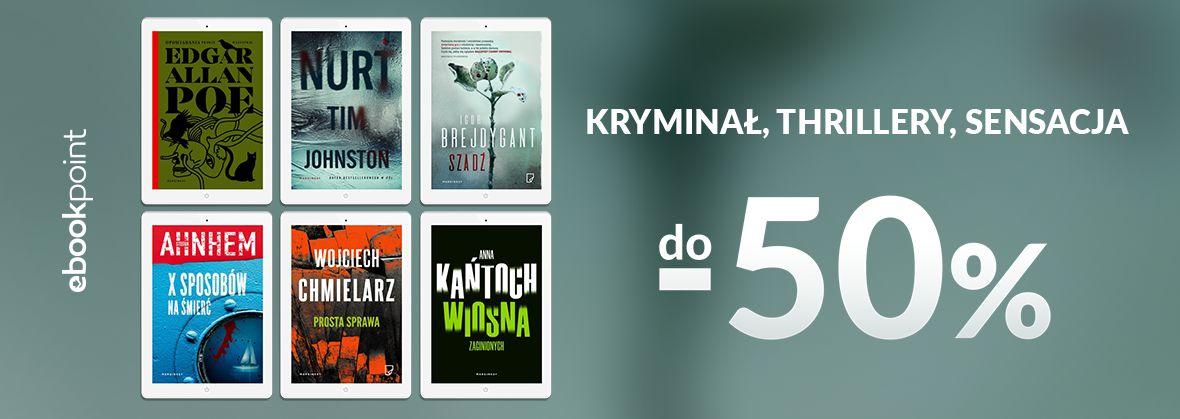 Promocja na ebooki Wydawnictwo Marginesy - kryminały, sensacja, thrillery do -50%