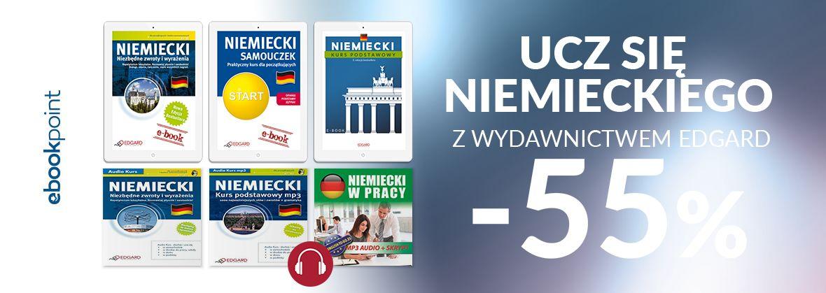 Promocja na ebooki Ucz się niemieckiego z Wydawnictwem EDGARD / -55%