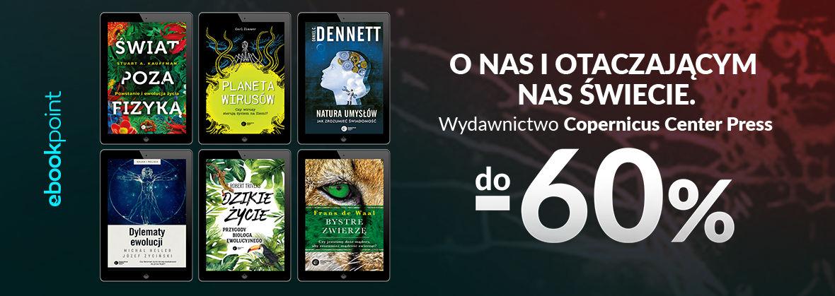 Promocja na ebooki O nas i otaczającym nas świecie! / Wydawnictwo Copernicus Center Press do -60%