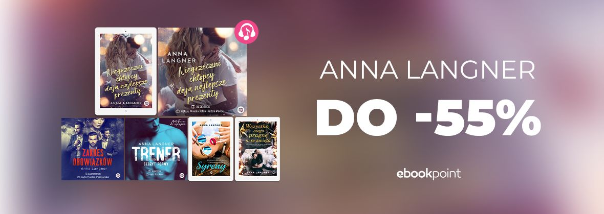 Promocja na ebooki Anna LANGNER do -55%