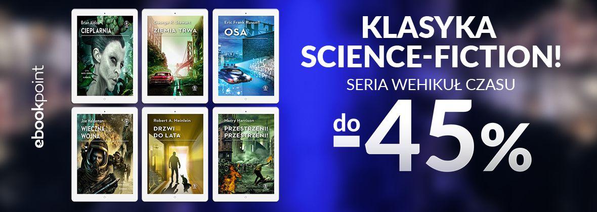 Promocja na ebooki Klasyka science-fiction / seria WEHIKUŁ CZASU do -45%