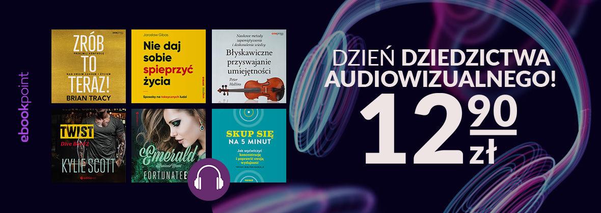 Promocja na ebooki Dzień Dziedzictwa Audiowizualnego / Audiobooki po 12,90zł