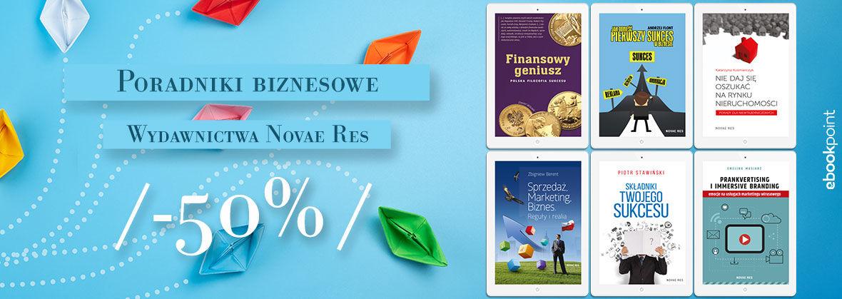 Promocja Poradniki biznesowe Wydawnictwa Novae Res [-50%]
