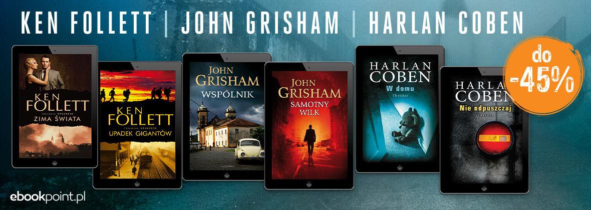 Promocja KEN FOLLETT | JOHN GRISHAM | HARLAN COBEN