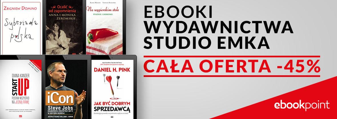 Ebooki Wydawnictwa Studio Emka [cała oferta -45%]