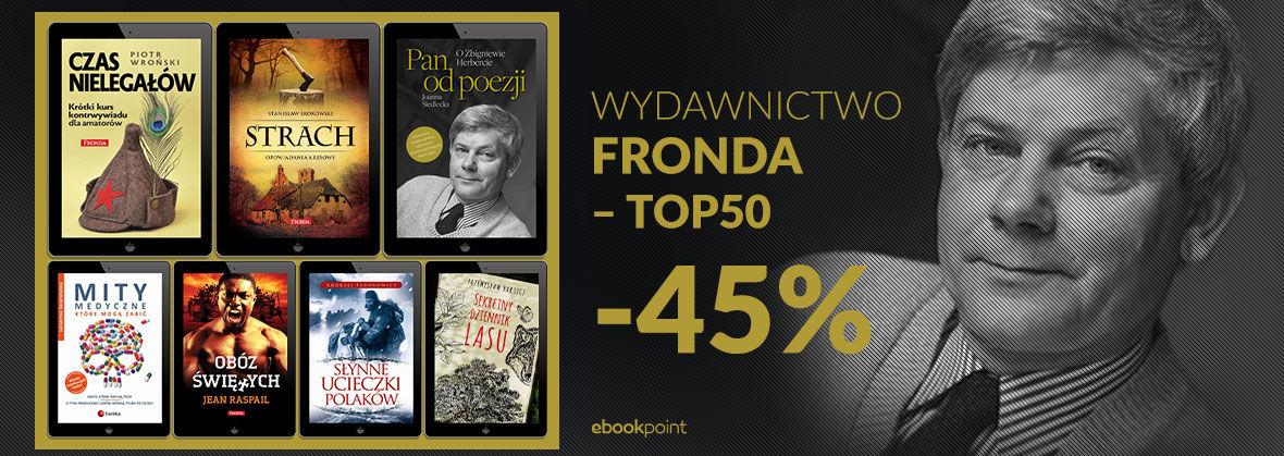 Promocja na ebooki WYDAWNICTWO FRONDA - TOP50 [-45%]