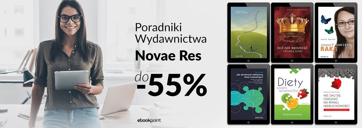 Promocja na ebooki Poradniki Wydawnictwa Novae Res [do -55%]
