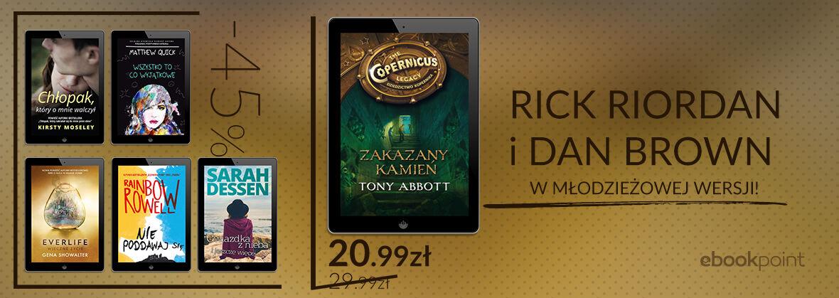 Promocja na ebooki Rick Riordan i Dan Brown w młodzieżowej wersji! [Literatura młodzieżowa]