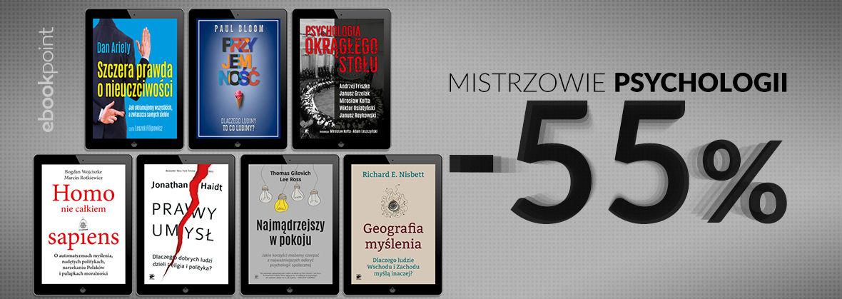 Promocja na ebooki MISTRZOWIE PSYCHOLOGII [-55%]
