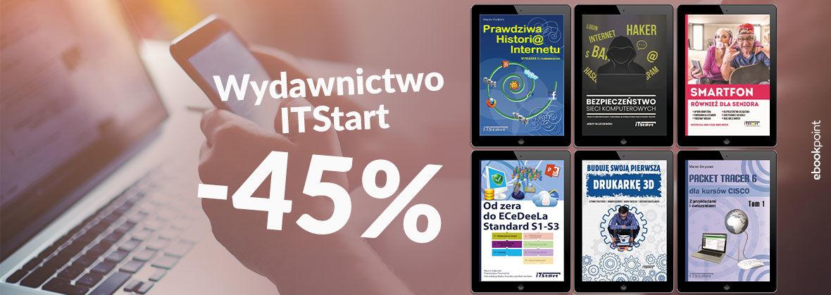 Promocja na ebooki Wydawnictwo ITStart [-45%]