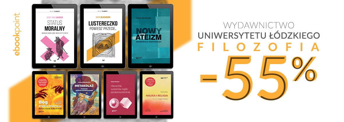 Promocja na ebooki Wydawnictwo Uniwersytetu Łódzkiego - Filozofia