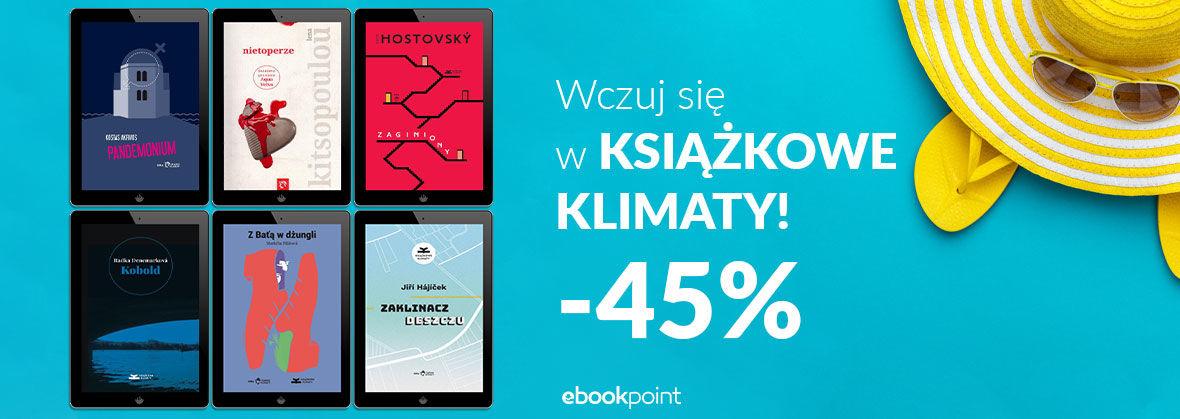 Promocja na ebooki Wczuj się w KSIĄŻKOWE KLIMATY!