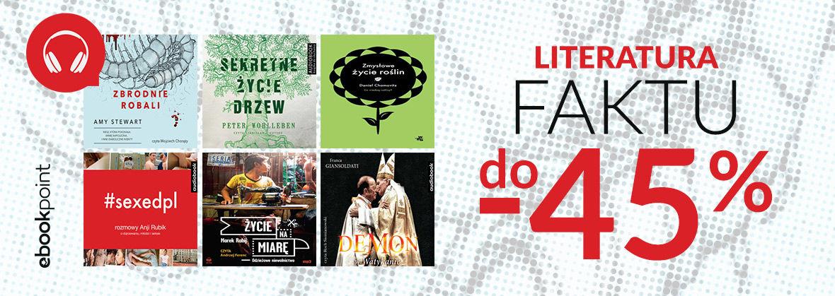 Promocja na ebooki Fakty nie kłamią! / Audiobooki do -40%