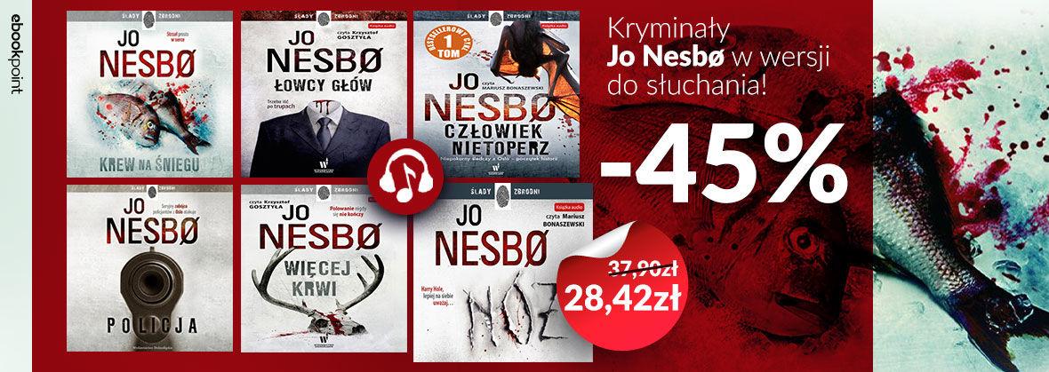 Promocja na ebooki Audiobookowe kryminały Jo Nesbø