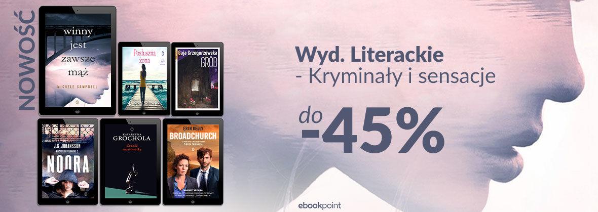 Promocja na ebooki Kryminał i sensacja [WYD. LITERACKIE]