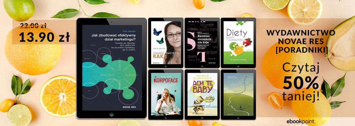 Promocja na ebooki Wydawnictwo Novae Res - PORADNIKI [-50%]