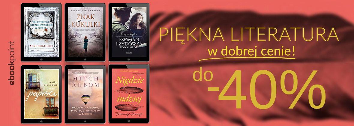 Promocja na ebooki Piękna literatura w dobrej cenie!