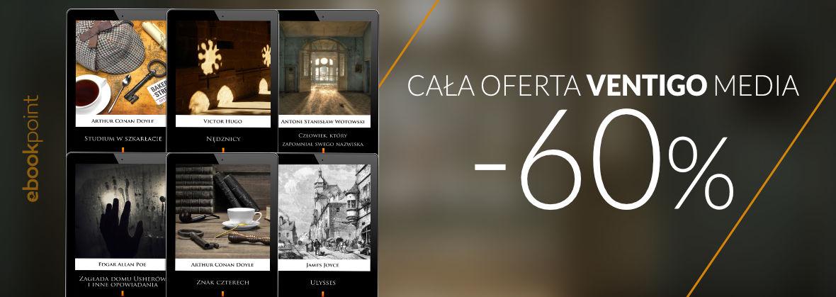 Promocja Promocja na ebooki VENTIGO [cała oferta -60%]