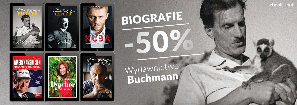 Promocja na ebooki BIOGRAFIE [Wydawnictwo Buchmann -50%]