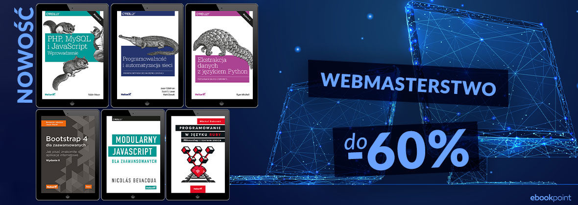Promocja na ebooki Zacznij tworzyć strony www [webmasterstwo do -60%]