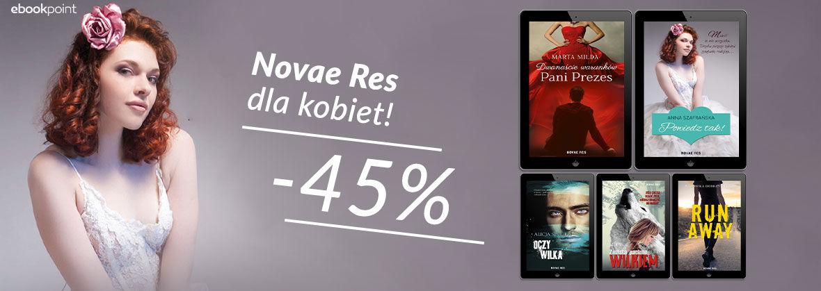 Promocja na ebooki NOVAE RES [dla kobiet -45%]