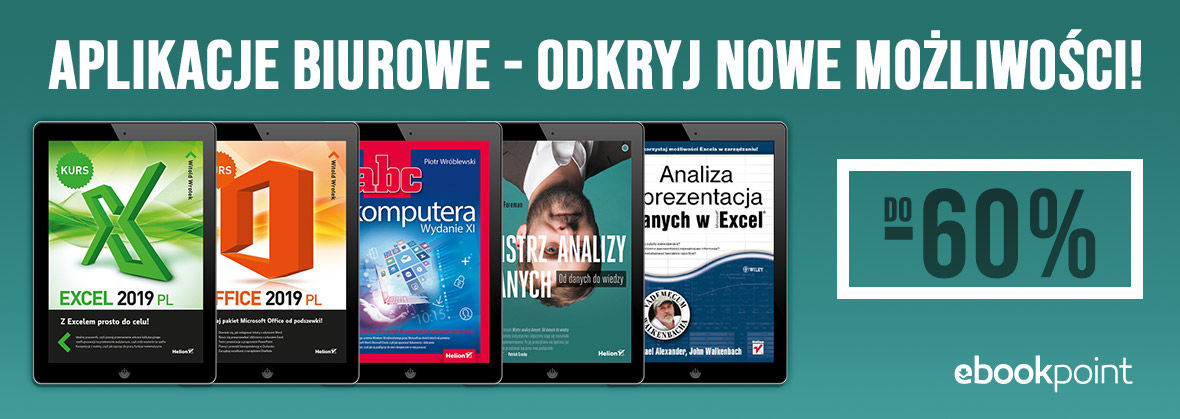 Promocja na ebooki Aplikacje biurowe [ebooki do -60%]